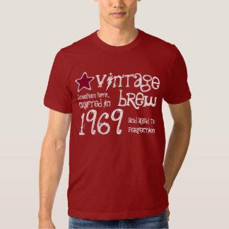 1969 nombre del personalizado del Brew del vintage Playeras