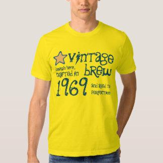 1969 nombre del personalizado del Brew del vintage Polera