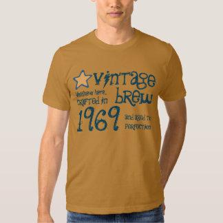 1969 nombre del personalizado del Brew del vintage Poleras