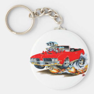 1969 Olds Cutlass Red Convertible Keychain