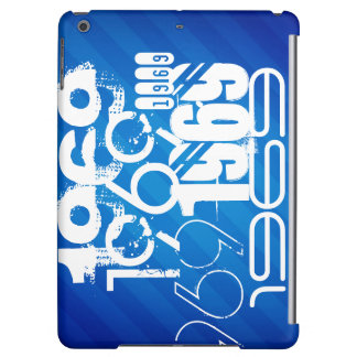 1969 on Royal Blue Stripes Cover For iPad Air