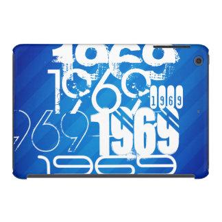 1969 on Royal Blue Stripes iPad Mini Retina Cover