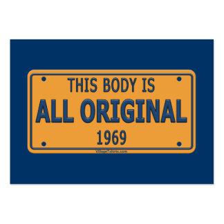 1969 Original Car Body Business Card Template