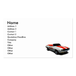 1969  pace car Double-Sided standard business cards (Pack of 100)