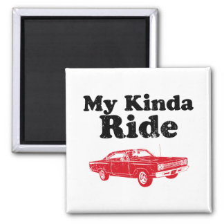 1969 Plymouth Road Runner 2 Inch Square Magnet