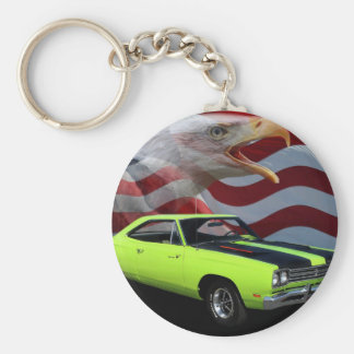 1969 Plymouth Road Runner Tribute Basic Round Button Keychain