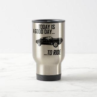 1969 Pontiac Firebird 15 Oz Stainless Steel Travel Mug