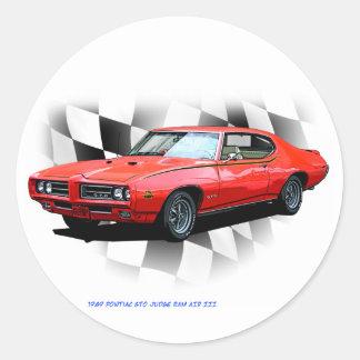 1969 Pontiac GTO Judge Classic Round Sticker
