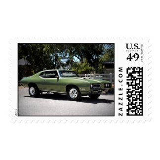 1969 Pontiac GTO Muscle Car Postage Stamps