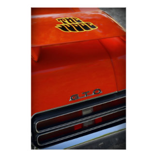 1969 Pontiac GTO The Judge Poster