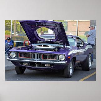 1969 Purple Barracuda Poster