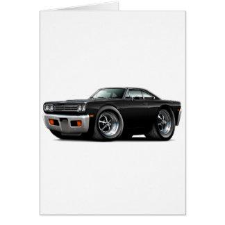 1969 Roadrunner Black-Black Hood Car Card
