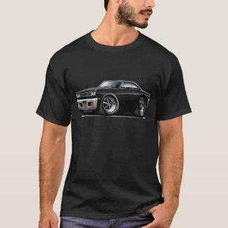 1969 Roadrunner Black-Black Hood Car T-Shirt