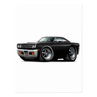 1969 Roadrunner Black Car Postcard