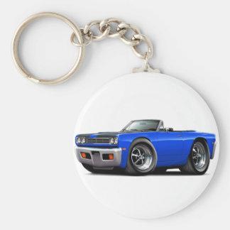 1969 Roadrunner Blue-Black Hood Convertible Keychain
