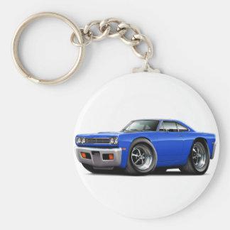 1969 Roadrunner Blue Car Keychain