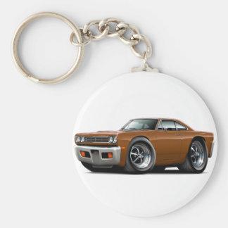 1969 Roadrunner Brown Car Keychain