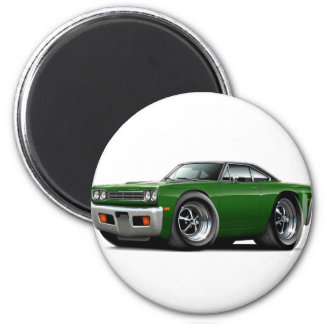 1969 Roadrunner Green-Black Top Car Magnet