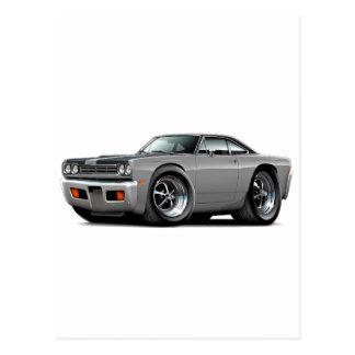 1969 Roadrunner Grey-Black Hood-Top Car Postcard