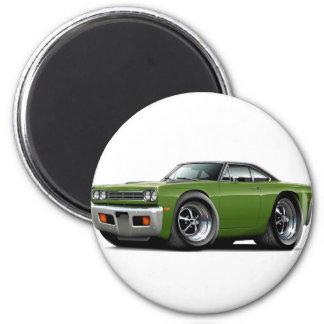1969 Roadrunner Ivy-Black Top Car Magnet