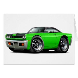 1969 Roadrunner Lime-Black Hood-Top Car Card