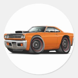1969 Roadrunner Orange-Black Hood Scoop Car Sticker