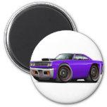 1969 Roadrunner Purple-Black Hood Scoop Car Refrigerator Magnets