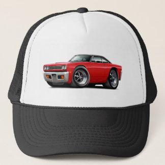 1969 Roadrunner Red-Black Top Car Trucker Hat