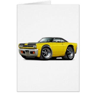 1969 Roadrunner Yellow-Black Hood-Top Car Card
