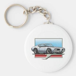 1969 Silver Cutlass Basic Round Button Keychain