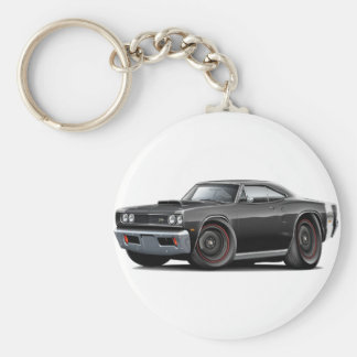 1969 Super Bee Black Stock Wheels Keychain