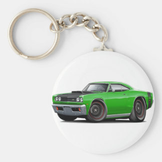 1969 Super Bee Green-Black Stock Wheels Keychain