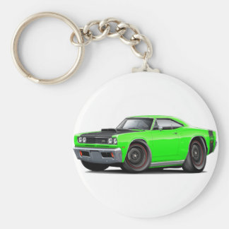 1969 Super Bee Lime-Black Stock Wheels Keychain