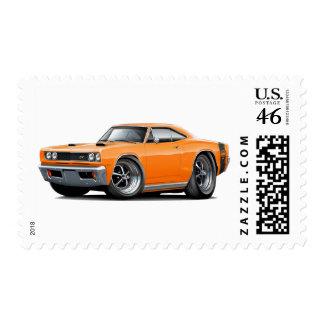 1969 Super Bee Orange Double Scoop Hood Stamp