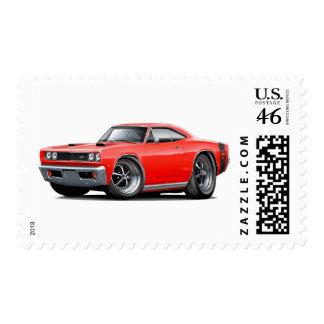 1969 Super Bee Red Double Scoop Hood Stamps