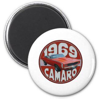 1969 Super Sport Camaro Deep Red Line Magnet