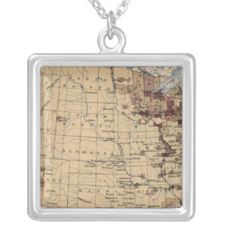 196 Value lumber, timber/sq mile Silver Plated Necklace