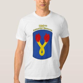 196o Camiseta del remiendo de hombro de la brigada Poleras