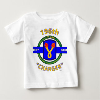 """196TH INFANTRY BRIGADE """"CHARGER"""" VIETNAM BABY T-Shirt"""
