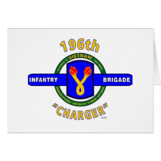 """196TH INFANTRY BRIGADE """"CHARGER"""" VIETNAM CARD"""