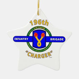 "196TH INFANTRY BRIGADE ""CHARGER"" VIETNAM CERAMIC ORNAMENT"