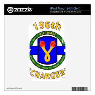 """196TH INFANTRY BRIGADE """"CHARGER"""" VIETNAM iPod TOUCH 4G SKINS"""