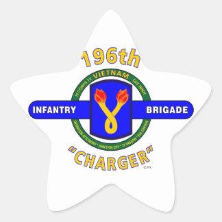 "196TH INFANTRY BRIGADE ""CHARGER"" VIETNAM STAR STICKER"