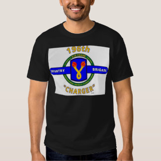 """196TH INFANTRY BRIGADE """"CHARGER"""" VIETNAM T SHIRT"""