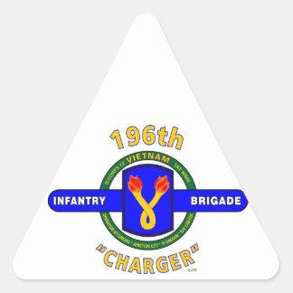 "196TH INFANTRY BRIGADE ""CHARGER"" VIETNAM TRIANGLE STICKER"