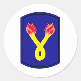 196th  Infantry Brigade Classic Round Sticker