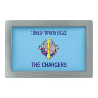 196th LIGHT INFANTRY BRIGADE Rectangular Belt Buckles