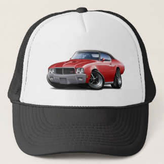 1970-72 Buick GS Red Black Top Car Trucker Hat