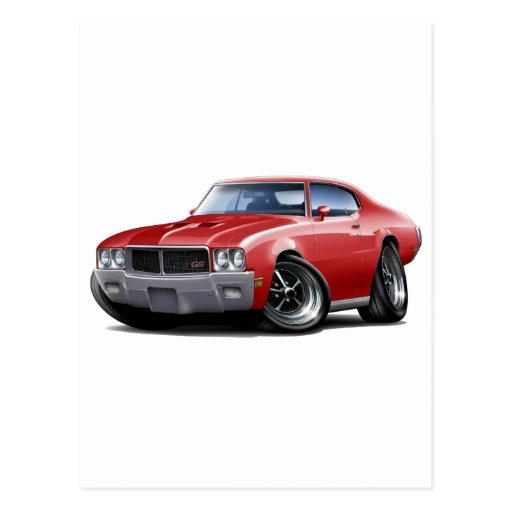 1970-72 Buick GS Red Car Post Card