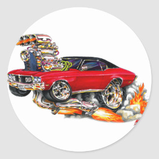 1970-72 Buick GS Red Car Round Stickers